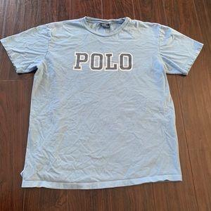 Vintage 90s Polo Ralph Lauren Classic Shirt Blue L